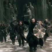 Thorin lidera la carga de los Enanos de Erebor