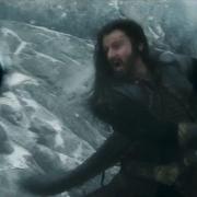 Thorin combatiendo en la Colina del Cuervo