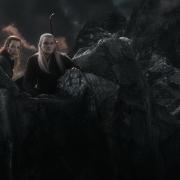 Tauriel y Legolas en el Monte Gundabad