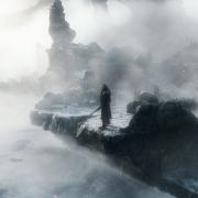 Thorin en el lago helado de la Colina del Cuervo
