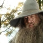 Gandalf se despide de Bilbo
