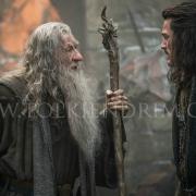 Gandalf y Bardo conversan en Valle