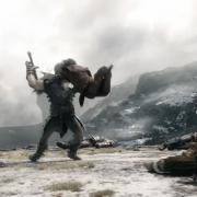 Bifur se lanza contra un Orco