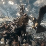 Beorn y las Águilas en combate