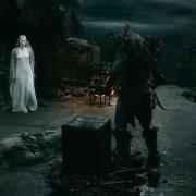 Galadriel, Gandalf y el Orco