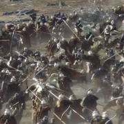 Los Elfos y los Enanos luchando entre sí