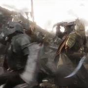 Elfos luchando con los Orcos