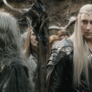 Gandalf y Thranduil en Valle