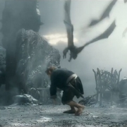 Los murciélagos atacan a Bilbo