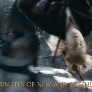 Legolas acaba con Orcos de forma acrobática