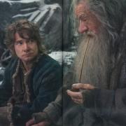 Bilbo y Gandalf en Valle