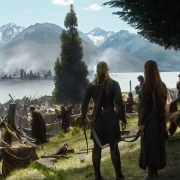 Legolas y Tauriel contemplan la ruina causada por Smaug