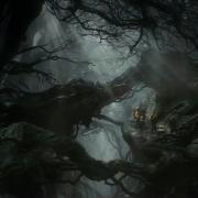 Bilbo y los Enanos en el Bosque Negro