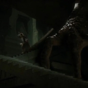 Bilbo intenta escapar de Smaug