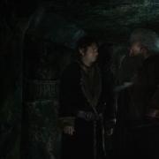 Bilbo y Balin en el interior de Erebor