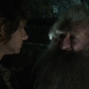 Bilbo y Balin en Erebor