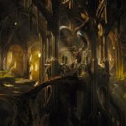El interior del palacio de Thranduil