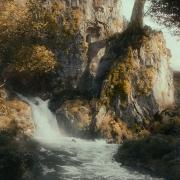 Los Enanos huyen del palacio de Thranduil