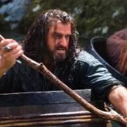 Thorin en uno de los barriles
