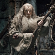 Gandalf herido en Dol Guldur
