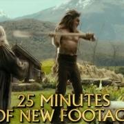 Bilbo y Gandalf hablan con Beorn