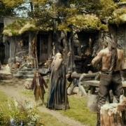 Bilbo y Gandalf con Beorn