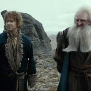 Bilbo y Balin en la Desolación de Smaug