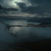 Smaug vuela hacia Esgaroth