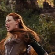 Tauriel combate con los Orcos