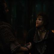 Bilbo, asustado al ver a Thorin