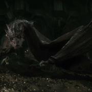 Bilbo y Smaug en Erebor