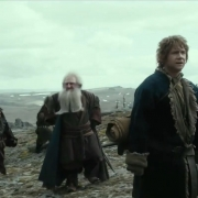 Bifur, Balin y Bilbo en la Desolación de Smaug