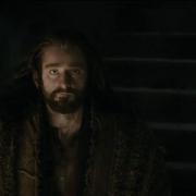 Bilbo y Thorin ven a Smaug