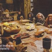Bilbo y los Enanos en casa de Beorn