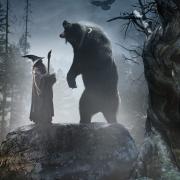Gandalf y Beorn transformado en oso