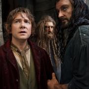 Bilbo, Nori y Thorin en Esgaroth
