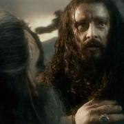 Thráin y Thorin en la Batalla de Azanulbizar
