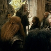 Gandalf y Bilbo salen a ver a Beorn