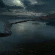 Smaug vuela hacia la Ciudad del Lago