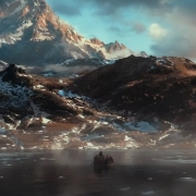 Los Enanos se dirigen a la Montaña Solitaria