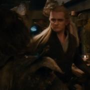 Legolas luchando con los Orcos en Esgaroth