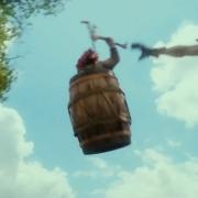 Un Enano en un barril y un Orco