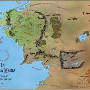 Mapa de la Tierra Media en color de Juan M. Villa