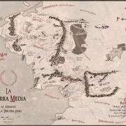 Mapa de la Tierra Media vintage de Juan M. Villa