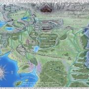 Mapa de Beleriand de Karolina Wegrzyn