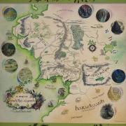 Mapa de la Tierra Media a color de Pauline Baynes