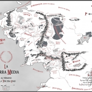 Mapa de la Tierra Media en blanco y negro de Juan M. Villa
