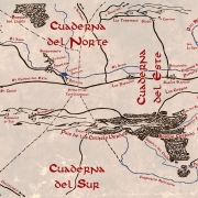 Mapa de la Comarca (vintage), de Juan M. Villa