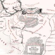 Mapa físico de Beleriand