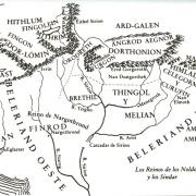 Mapa político de Beleriand
